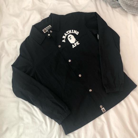 647e2d1d8e66 Bape Jackets   Blazers - BAPE College Logo Coaches Jacket